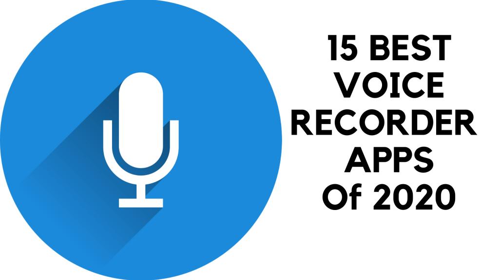 15 best voice recorder apps